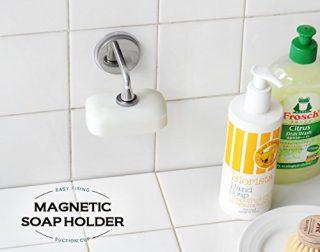 石鹸置き特有のヌルヌル感がない!マグネット式石鹸ホルダー!